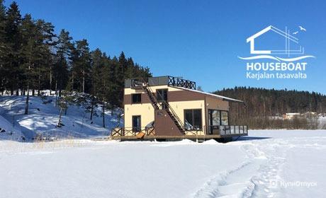 Карелия, дом для отпуска HouseBoat Kovcheg